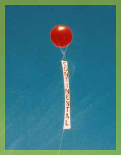 advertising red ball baloon